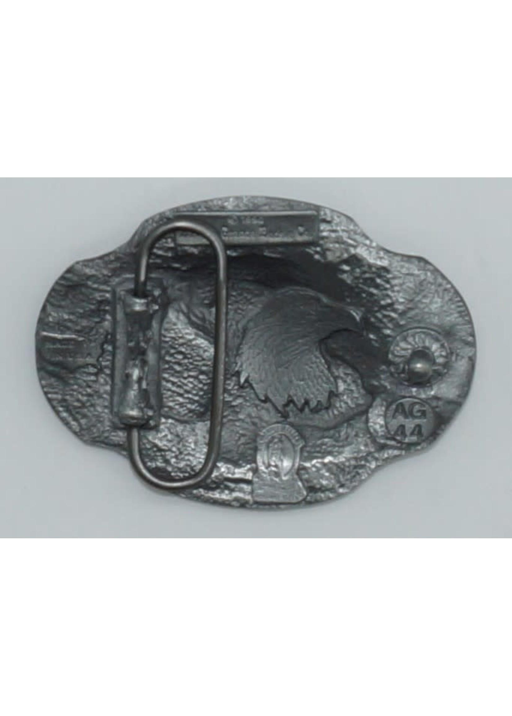 Siskiyou Gifts Eagle Profile Enameled Belt Buckle AG44E
