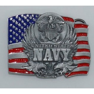 Siskiyou Gifts Navy Enameled Belt Buckle D92E