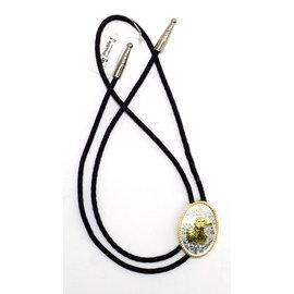 M&F Silver with Gold Eagle Bolo Tie 22265