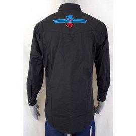 Ely 15203955-89- Men's Shirt / Black with Aztec Emblem