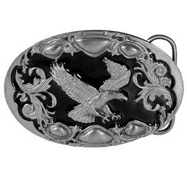 Siskiyou Gifts Flying Eagle (Diamond Cut) Enameled Belt Buckle A99D
