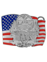 Siskiyou Gifts Navy Enameled Belt Buckle D92E