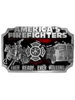 Siskiyou Gifts American Fire Fighters Enameled Belt Buckle S27E