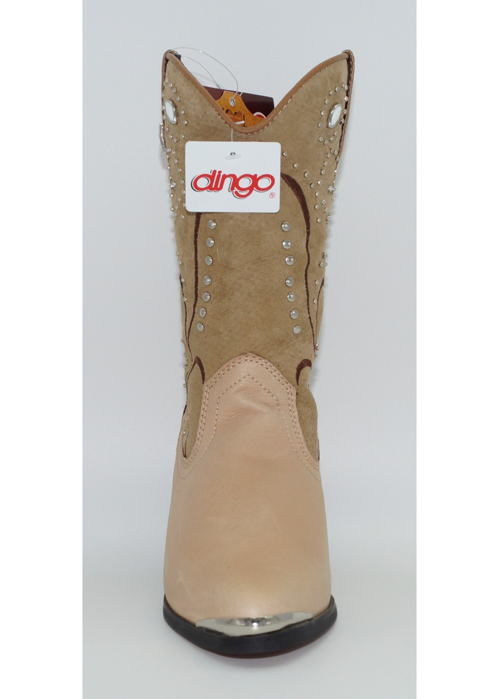 Dingo Women's Studded Tan Western Boots DI588