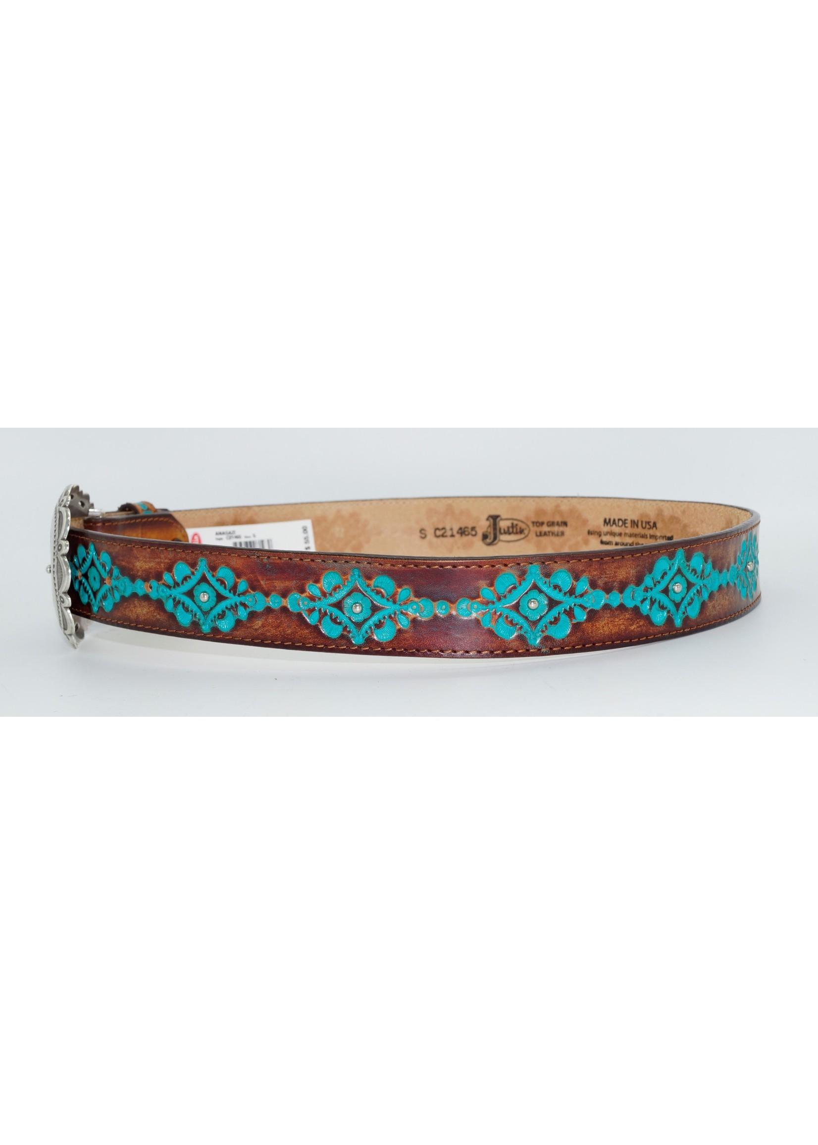 Brighton Ladies Brown Anasazi Turquoise Belt C21465