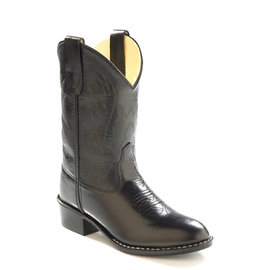 Old West Kid's Black Corona Calf 1110