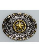 Montana Silversmiths A530- 2 Tone Barb Texas Star