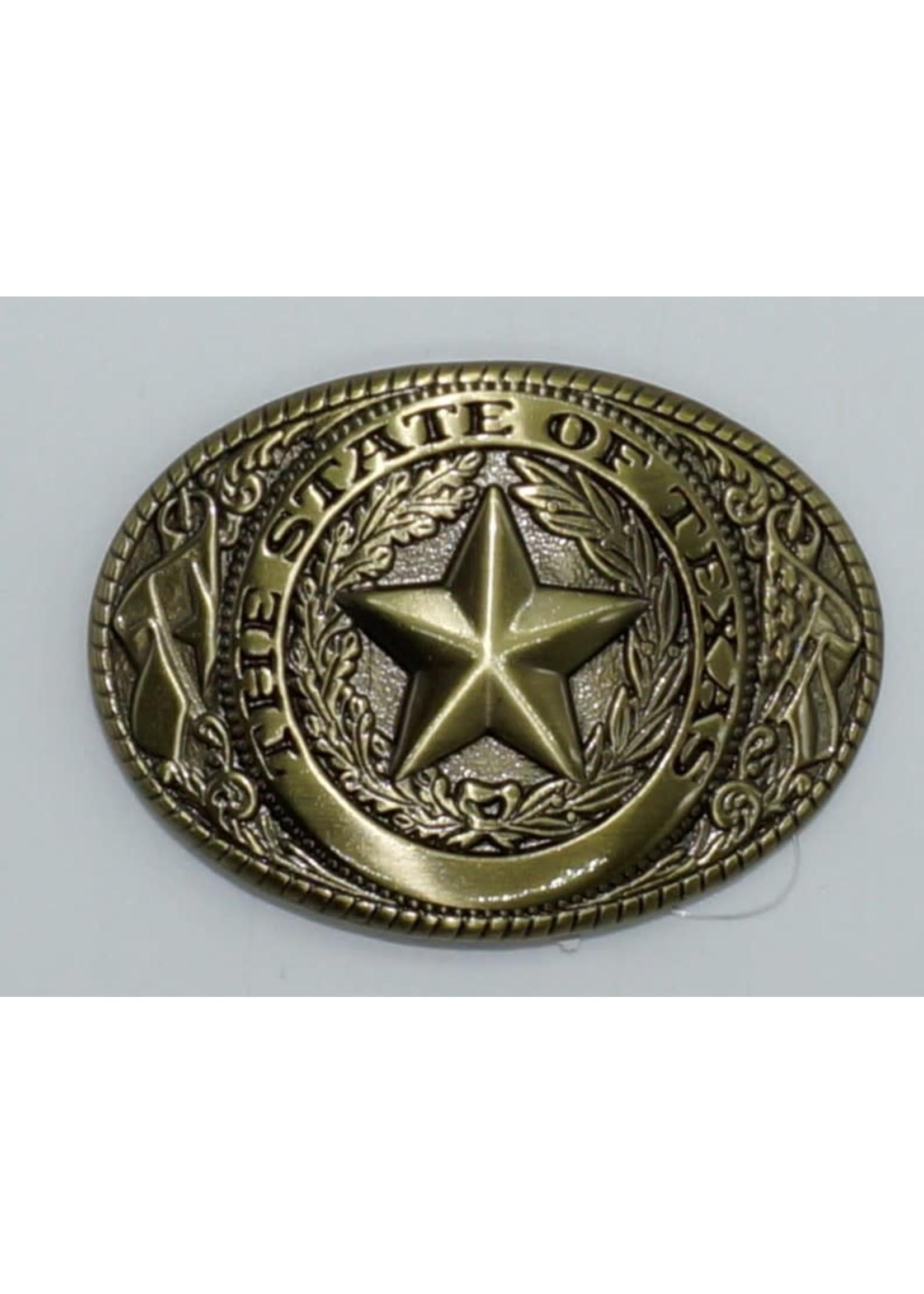 M&F 37002-Rope Edge Texas Seal Brass