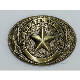 M&F 37002-Rope Edge Texas Seal Brass