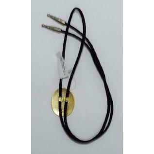 M&F 22274- Gold Silver Longhorn Skull Bolo Tie