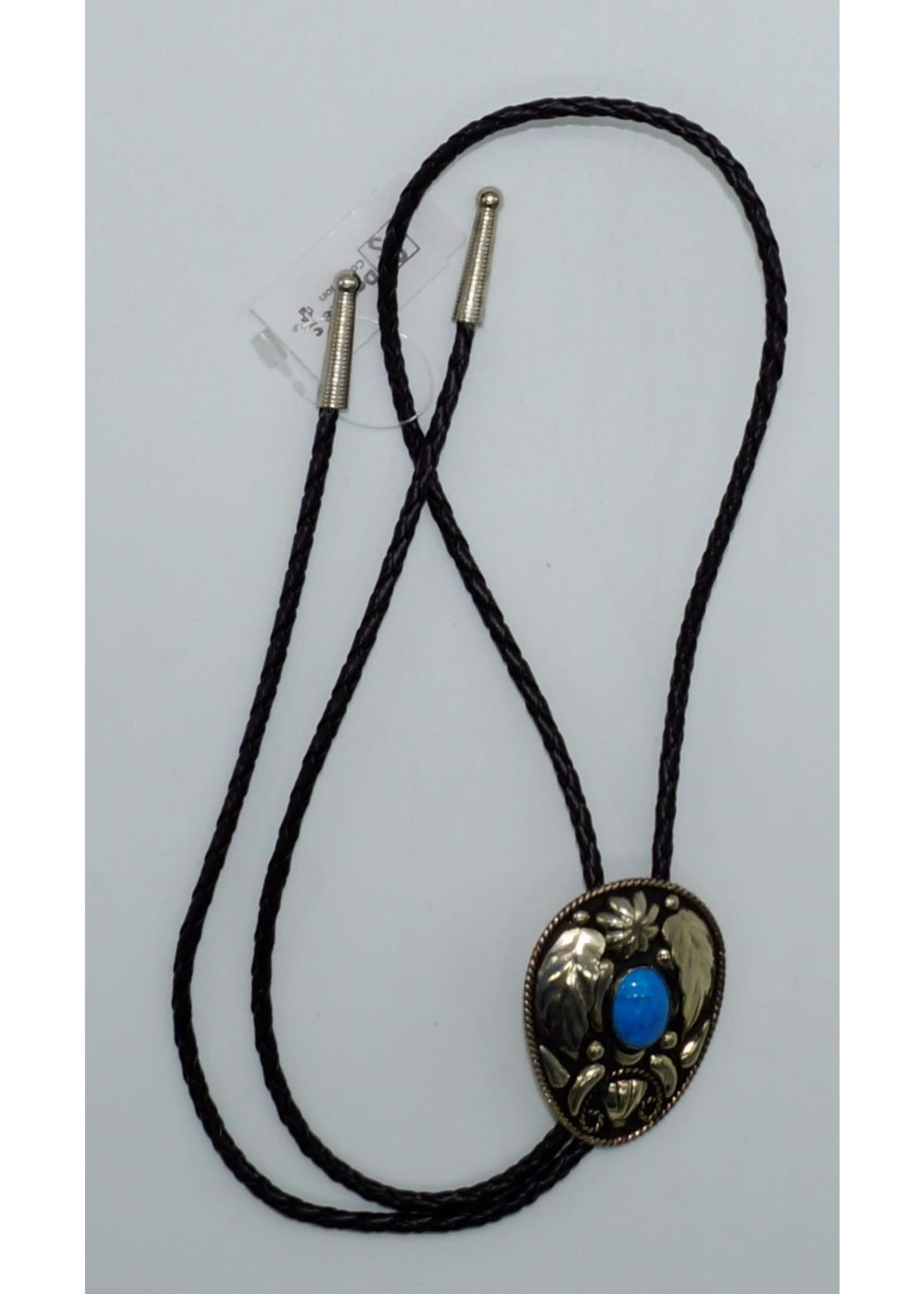 M&F 22110- Silver Leaves w/Blue Stone