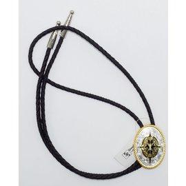 M&F 2270235- Gold/Silver Bolo Tie