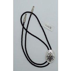 M&F 2270236- Silver Black Center Bolo Tie