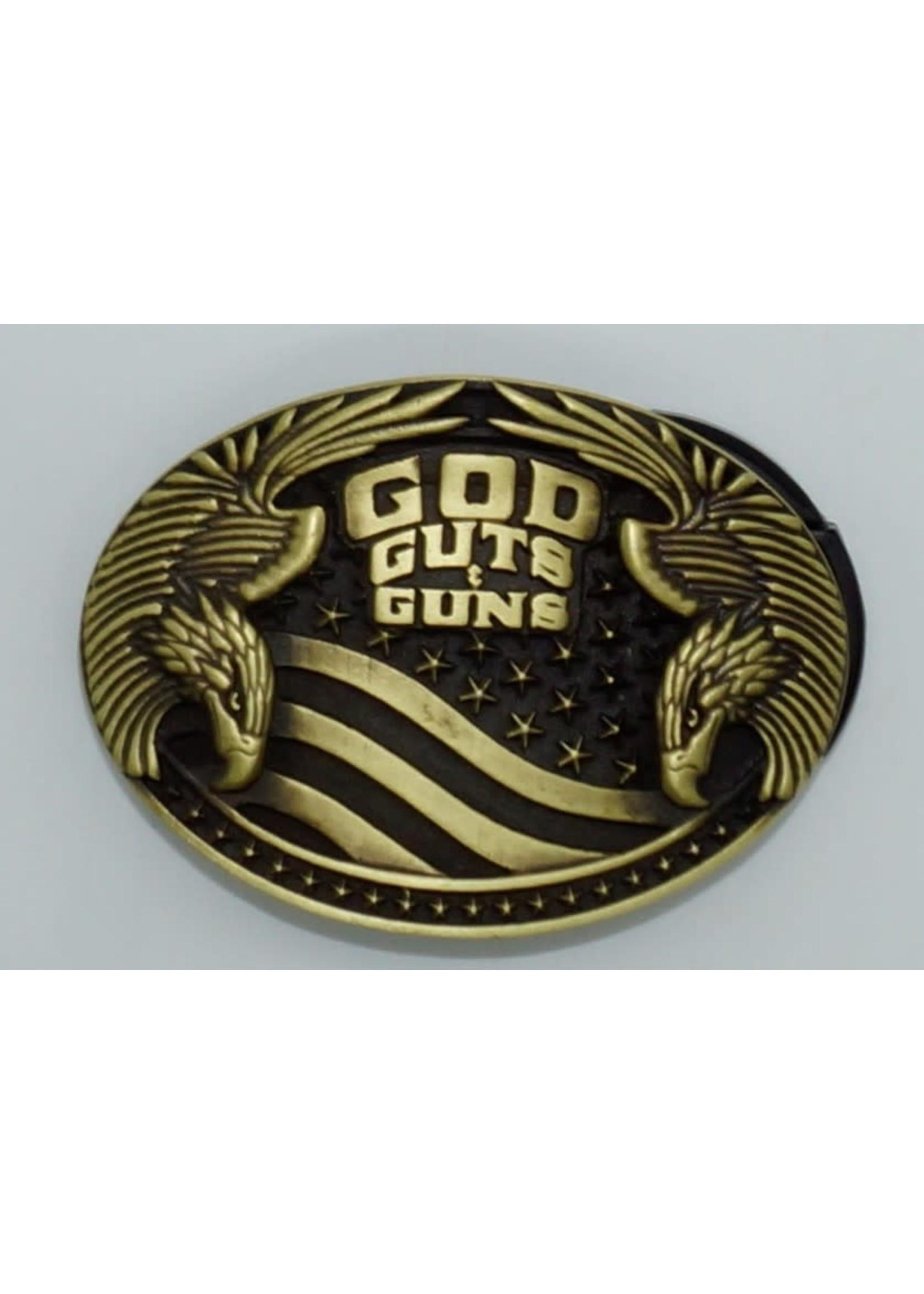 Montana Silversmiths A856- God/Guts & Guns