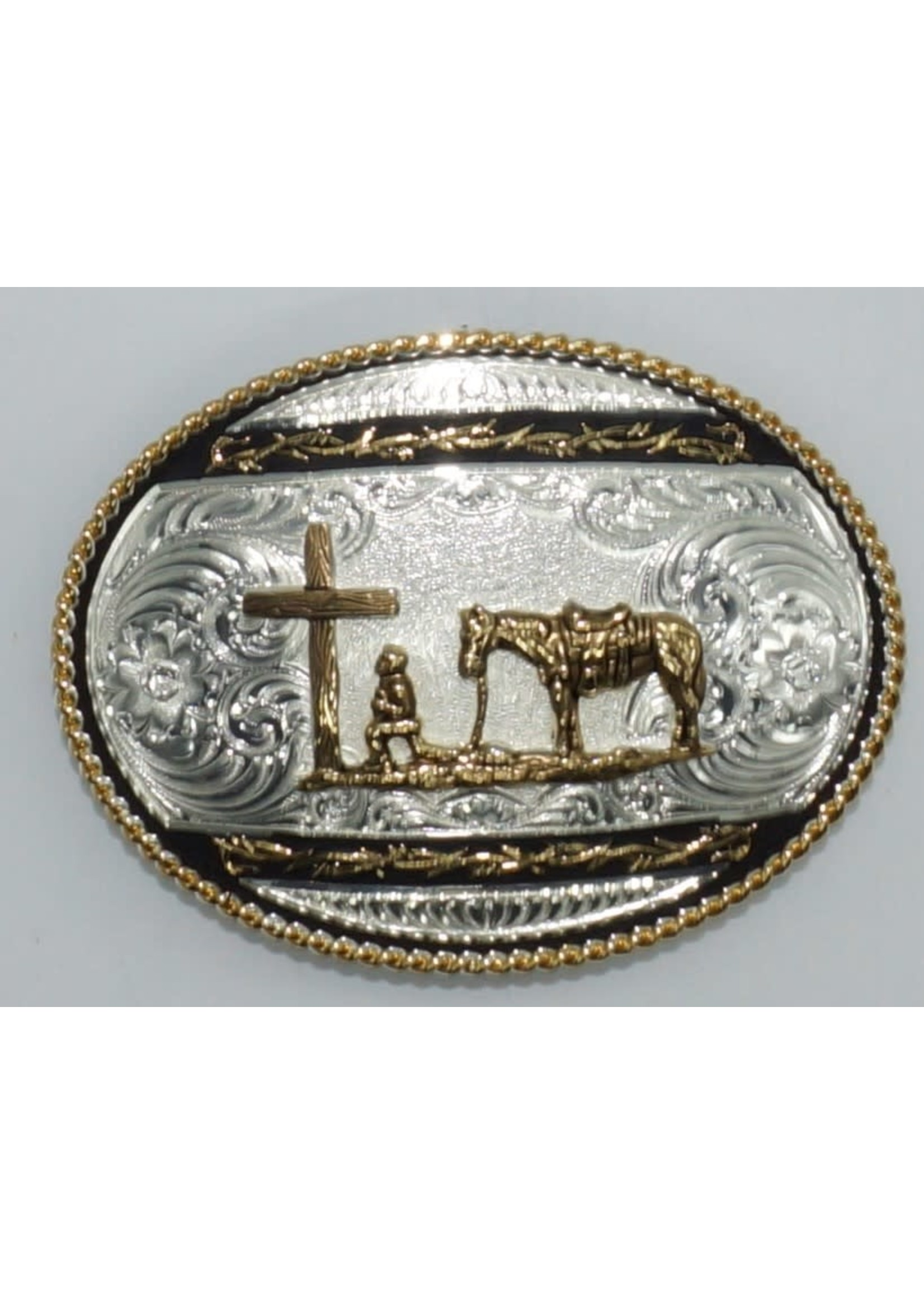 Montana Silversmiths 6135-731-BK / Barbed Wire Christian Cowboy