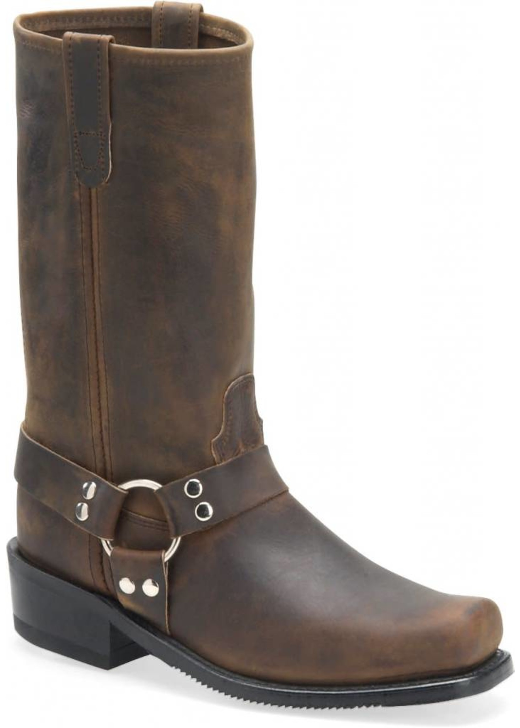 "Double H Men's 12"" Domestic Harness Boot Tan Crazyhorse 4004"