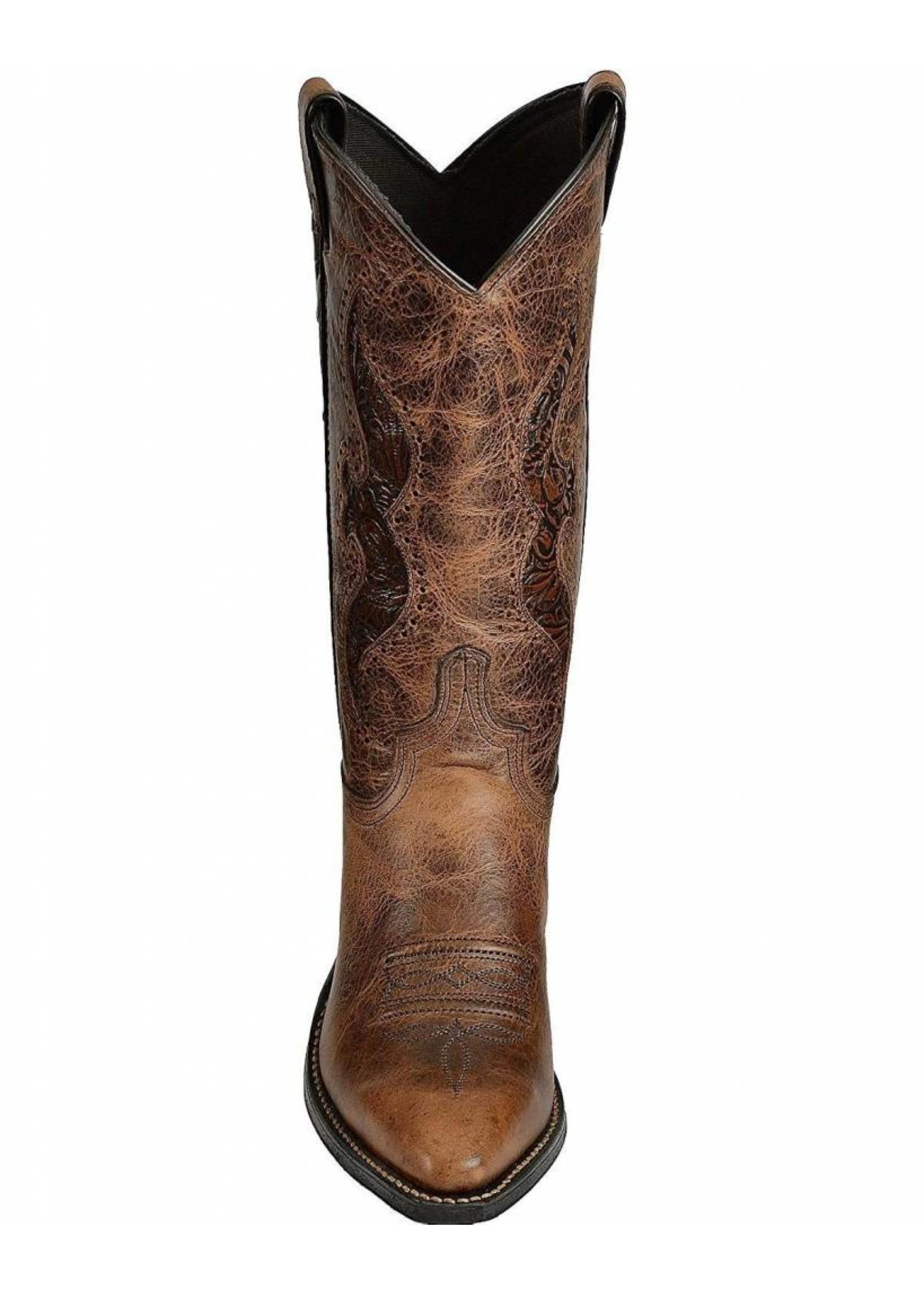 Abilene Women's Hand Tooled Inlay Cowgirl Boot Snip Toe - 9141