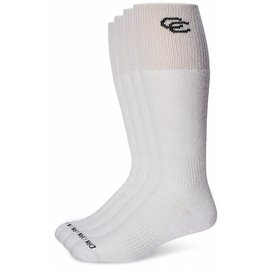Dan Post Womens Socks Over Calf 7-9.5 White 2PK BK Letter
