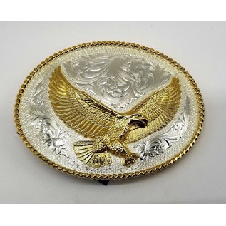 Silver with Engraved Gold Eagle