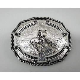 Montana Silversmiths Bordertown Buckle with End of Trail