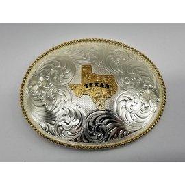 Montana Silversmiths 1350 Series German Silver State of Texas
