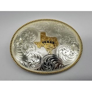 Montana Silversmiths 1350 Series German Silver State of Texas