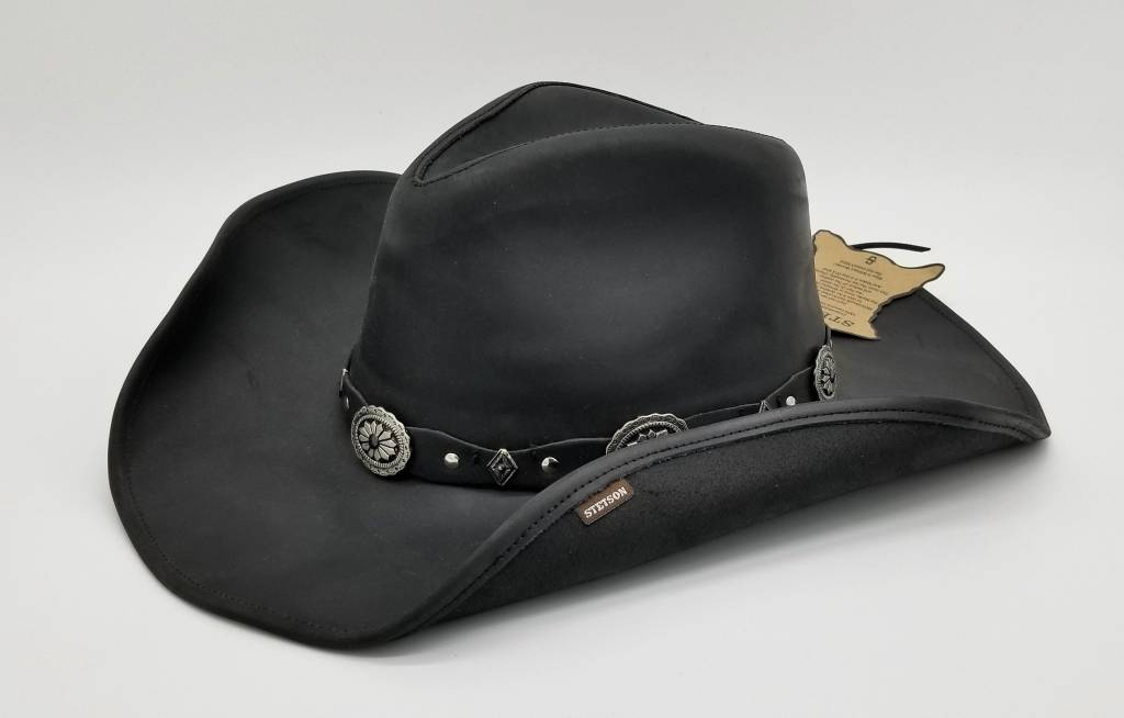 Stetson Roxbury Shapeable Leather Western Hat TRROXB8434 - Circle B ... 698aebdd7cd