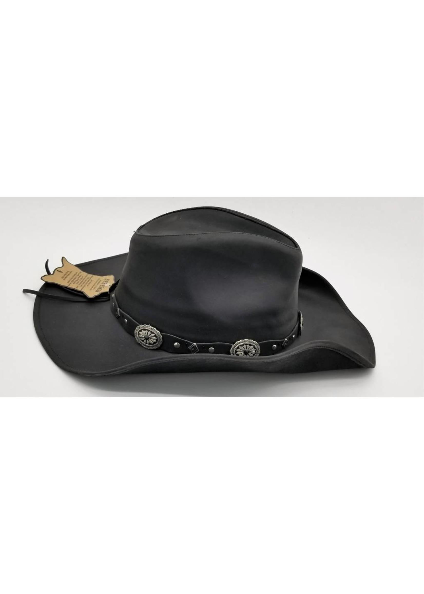 Stetson Stetson Roxbury Shapeable Leather Western Hat TRROXB8434