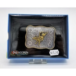Silver Gold Bull Rider Buckle
