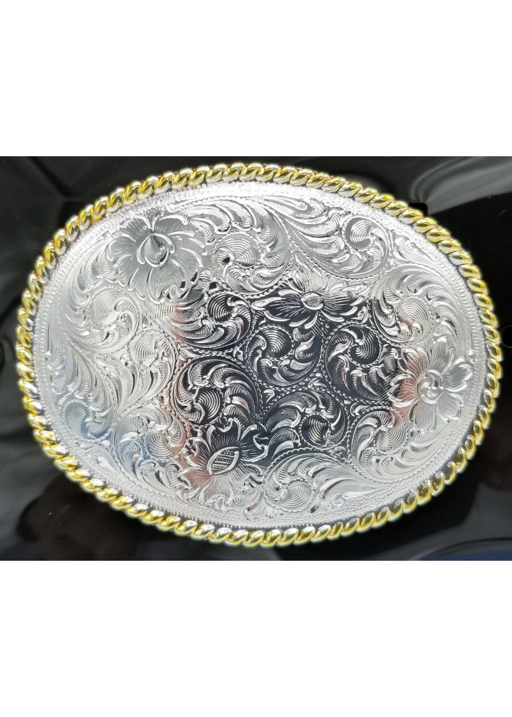 Nocona Gold and Silver Filigree Buckle 37220
