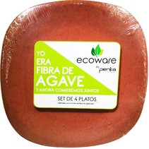 Platos de Fibra de Agave  Salmon Ecoware 4 pz.