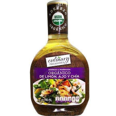 Aderezo Orgánico de Limon, Ajo y Chía Culinary 946 ml.