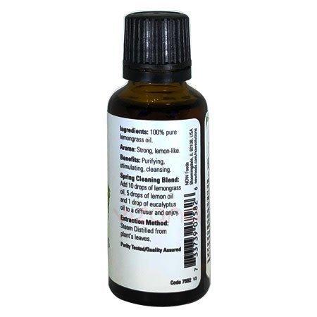 Aceite Esencial de Hierba de Limón Now 30 ml.