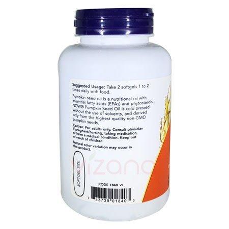 Aceite de Semilla de Calabaza Now 100-1000 mg.