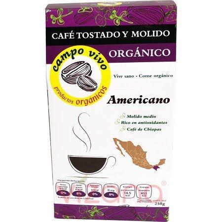 Café Americano Orgánico Campo Vivo 250 gr.