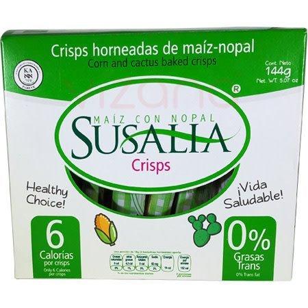 Crisps/Crackers Horneados de Maíz con Nopal Susalia 144 gr.