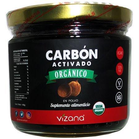 Carbón Activado en Polvo Orgánico Vizana 140 gr.
