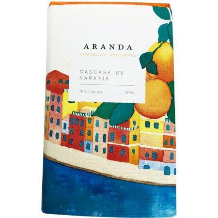 Chocolate + Cáscara de Naranja 70% Cacao Aranda 100 gr.