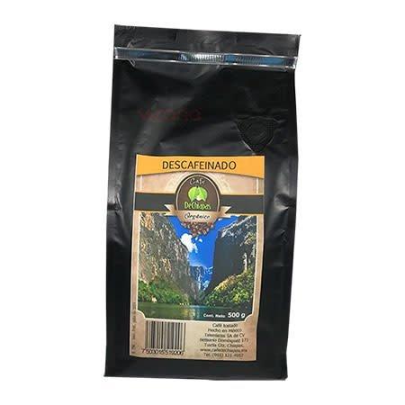 Cafe Organico Descafeinado de Chiapas 500gr