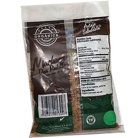 Carne Seca  Machaca Orgánica CORM 90 gr.