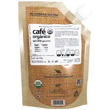 Organic Coffee Soluble Gourmet E-Nature 100 gr.