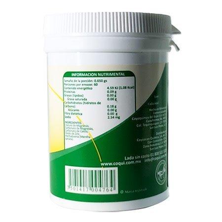 Cloruro de Magnesio en Cápsulas Química Coyoacán 60-650 mg