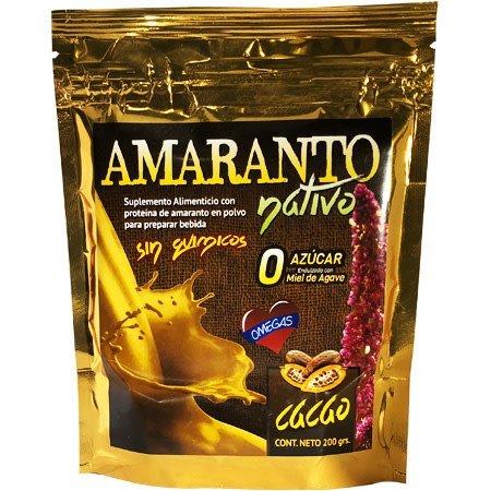 Bebida de Amaranto con Cacao Nativo 200 gr.