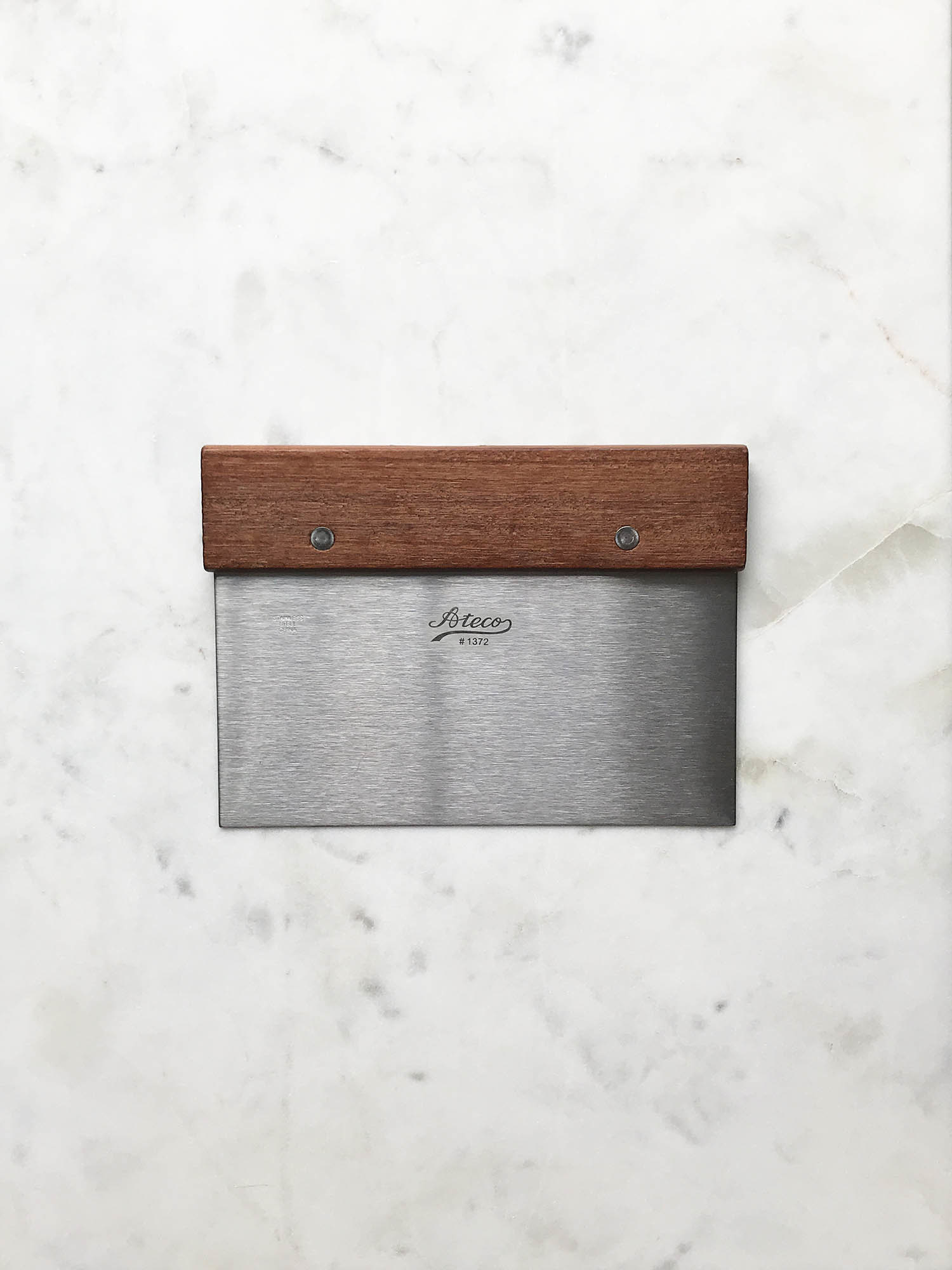 Ateco Wood & Stainless Bench Scraper-1