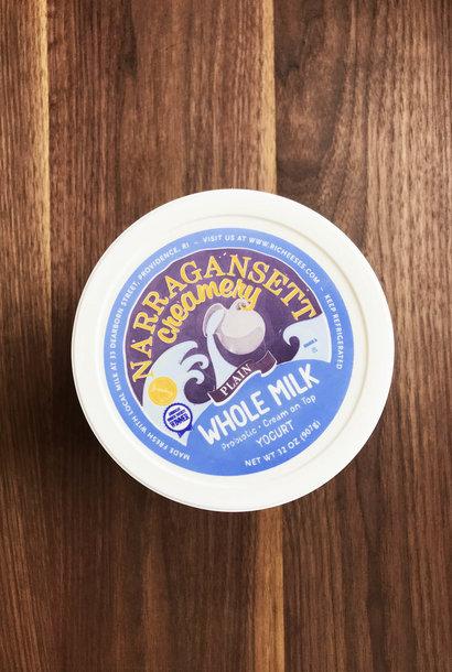 Narragansett Creamery Yogurt Plain Whole Milk 32oz