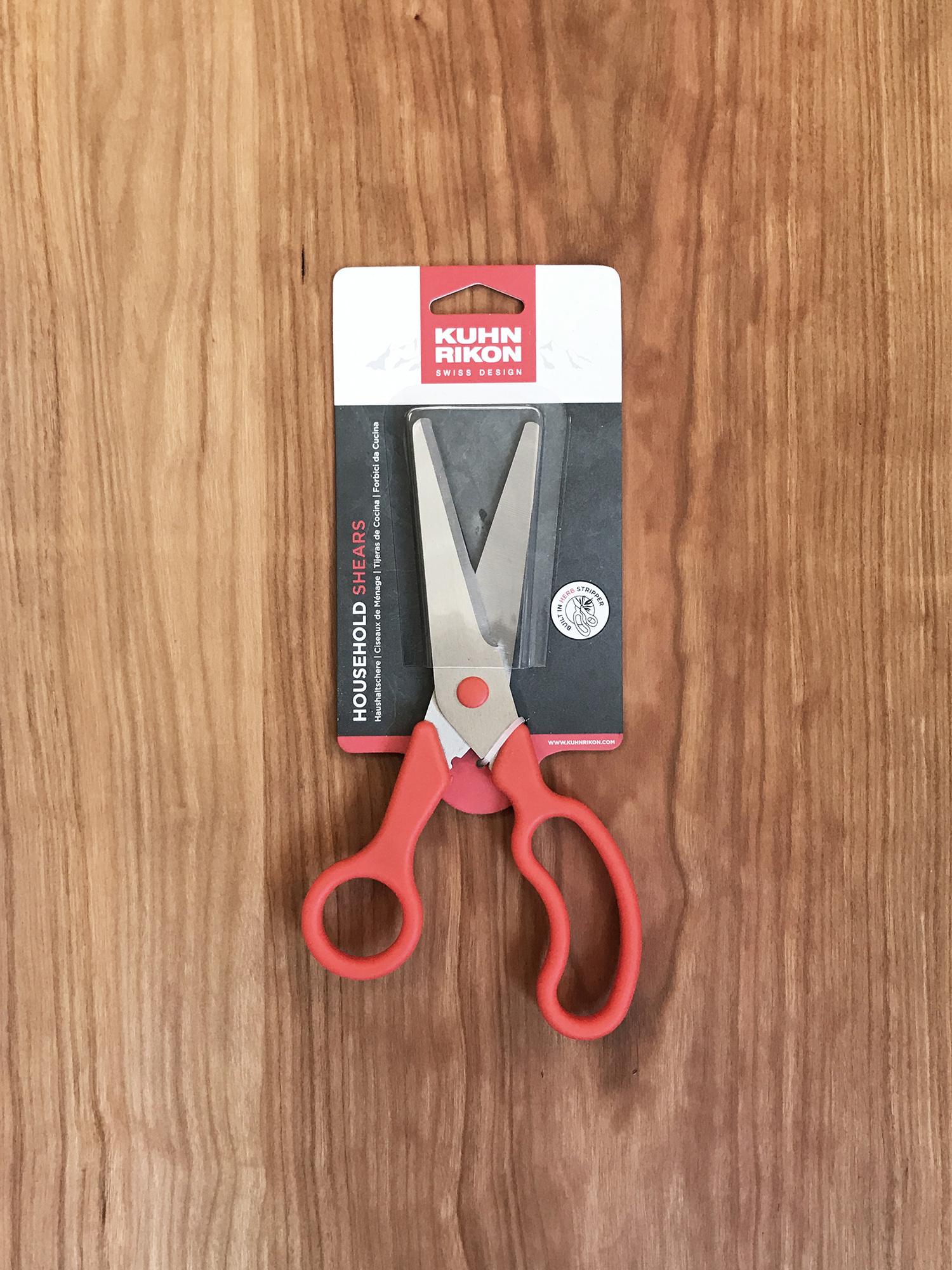 Kuhn Rikon Household Shears- Black and Red-1