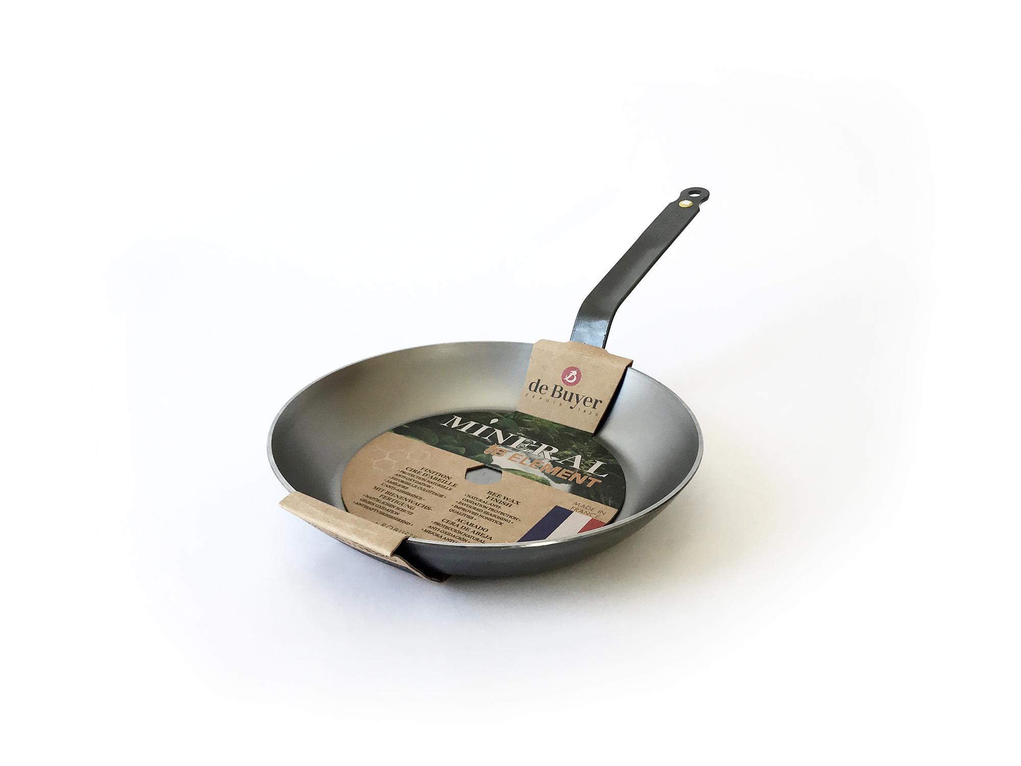 DeBuyer Carbon Steel Mineral B Frying Pan-4