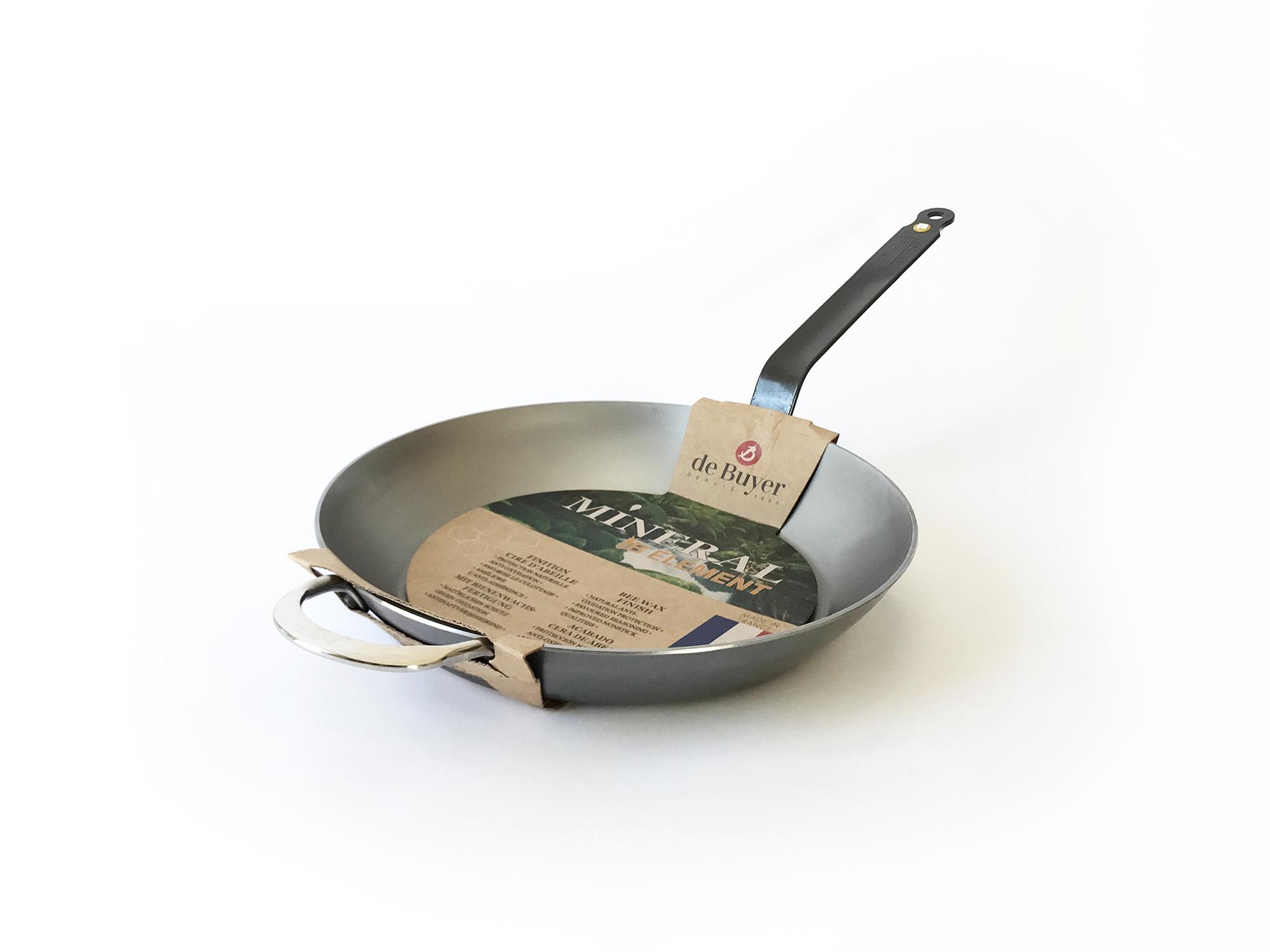 DeBuyer Carbon Steel Mineral B Frying Pan-5