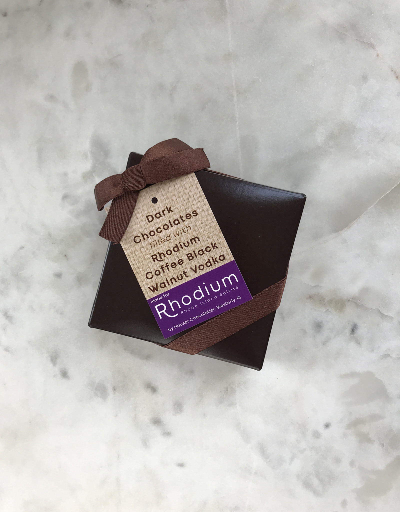 Rhodium Coffee Vodka Chocolate Truffles, Set of 4