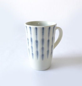 Miya Coffee Mug with Feathered Blue Stripes